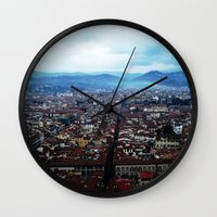 florence Wall Clocks featuring Florence by grrrenadine