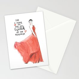 Ruin Your Lipstick Stationery Cards