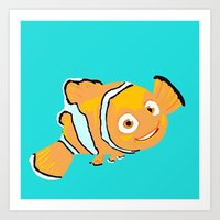 nemo Art Prints featuring Nemo by Roythehuman