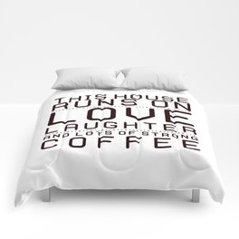 This House Runs on Coffee Block Comforters