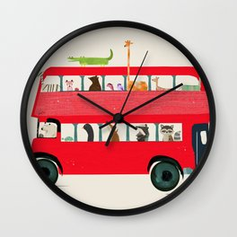 The big red bus Wall Clock