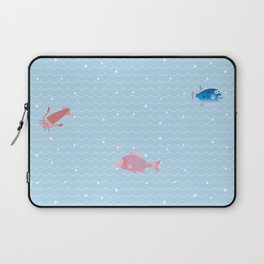 Snapper, Squid, Globefish and Wave Laptop Sleeve