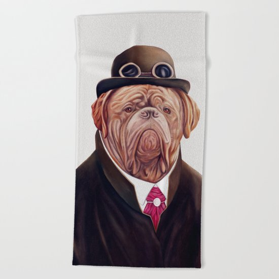 Dogue de Bordeaux Beach Towel