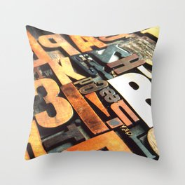 3B - Typography Photography™ Throw Pillow