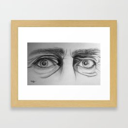 Starring Death in the Face Framed Art Print