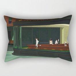 An Homage to Edward Hopper's Nighthawks Rectangular Pillow