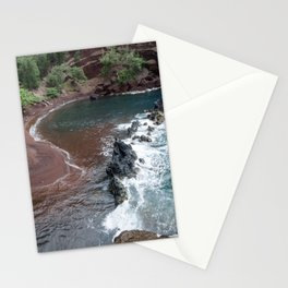 red sand beach Stationery Cards