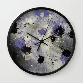 Purple Splash Wall Clock