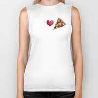 pizza Biker Tanks featuring Pizza  by Anderssen Creative Imaging