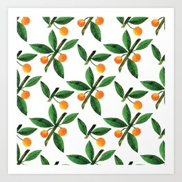 Botanic Watercolor Collection #12 Art Print