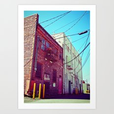 Alleyway architecture Art Print