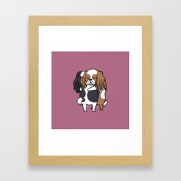 Cavalier King Charles Spaniel hugs Framed Art Print