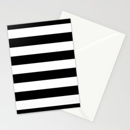 Black Bold Stripes Stationery Cards
