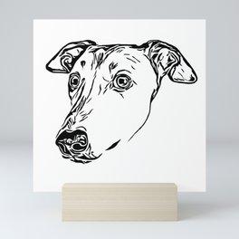 Greyhound Line Art Mini Art Print