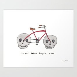 the most badass bicycle ever Art Print
