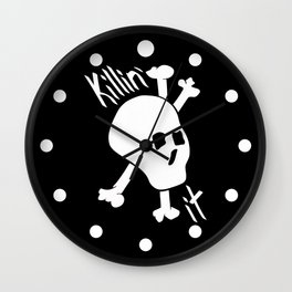 Killin' it Skull And Crossbones Wall Clock