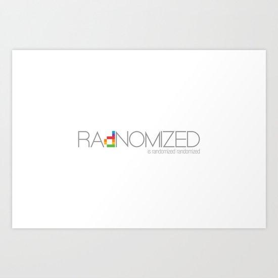 RAdNOMIZED Logo Art Print