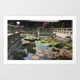 Temple waters  Art Print