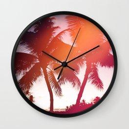 Aloha palms Wall Clock
