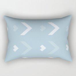 Chevron Blue Pattern Rectangular Pillow