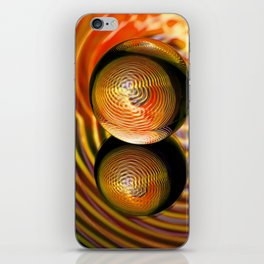 Golden in the crystal ball iPhone Skin