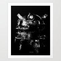 dalek Art Prints featuring Dalek by zerobriant