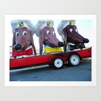 Doggie Diner heads, Fort Mason, San Francisco, CA Art Print