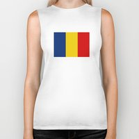 chad wys Biker Tanks featuring chad country flag by tony tudor