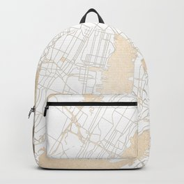 New York City White on Gold Backpack