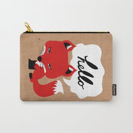 The Fox Says Hello Carry-All Pouch
