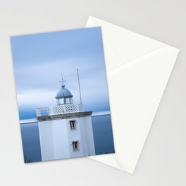 Lighthouse at sunset with clouds in the sky Stationery Cards