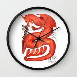 The Warrior and the Worm Wall Clock