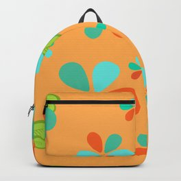 Big Bold Beautiful Daisies Yellow and Turquoise Backpack