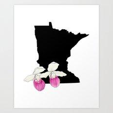 Minnesota Silhouette Art Print