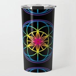 Sacred Symbols Rainbow Chakra Travel Mug