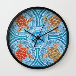 Flying Turtles Wall Clock