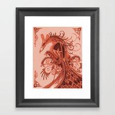 Red Fowl Framed Art Print