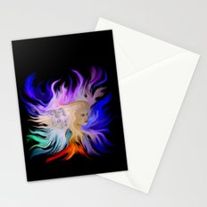 Woman and Horse - Fantasy Rainbow Art Stationery Cards