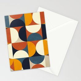 mid century abstract shapes fall winter 3 Stationery Cards
