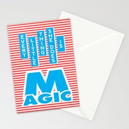 Every Little Thing She Does Is Magic Stationery Cards