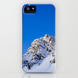 Beautiful Mountain with snow view iPhone Case