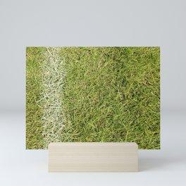 Chalk Line in Grass Mini Art Print