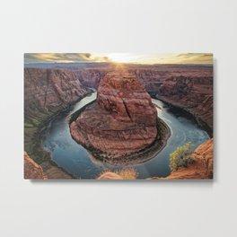 Horseshoe Bend Sunset Colorado River Arizona Landscape Metal Print