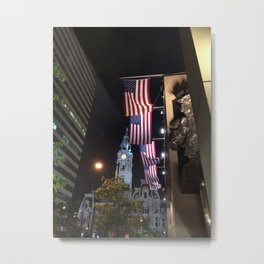 William Penn and the Red, White and Blue Metal Print