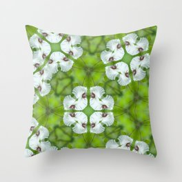 Silky Camellia Throw Pillow