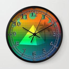 Oasis in the Rainbow Desert Wall Clock