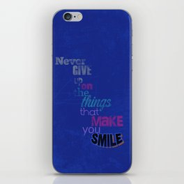 """Never Give Up..."" Inspirational Poster  iPhone Skin"
