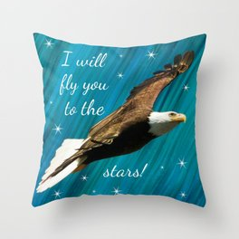 Stormy Field Throw Pillow