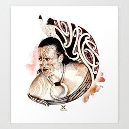 Toa Maori Art Print