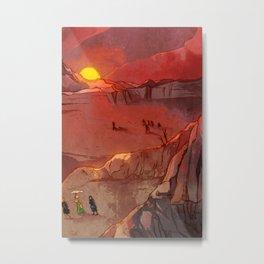 Red Skies Metal Print